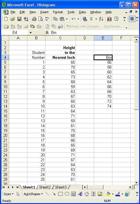 How to create frequency histogram in excel mac